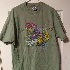 Vintage floral shirt 🐝